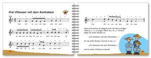 Voggys Blockflötenliederbuch - Drei chinesen mit dem Kontrabass