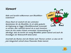 Voggys Blockflöten Liederbuch Vorwort