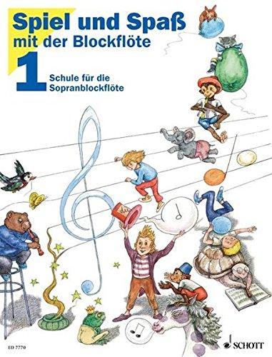 Spiel und Spaß mit der Blockflöte Band 1 - Altes Cover