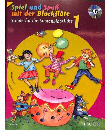 Spiel und Spaß mit der Blockflöte Band 1 - Neues Cover