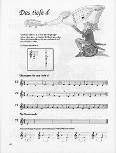 Spiel und Spaß mit der Blockflöte Band 1 - Das tiefe d