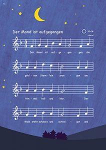 Flötenlilli Blockflötenschule Band 2 - Noten zu der Mond ist aufgegangen
