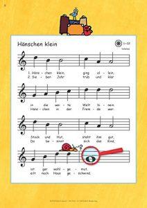 Flötenlilli Blockflötenschule Band 1 - Beispielseite 1